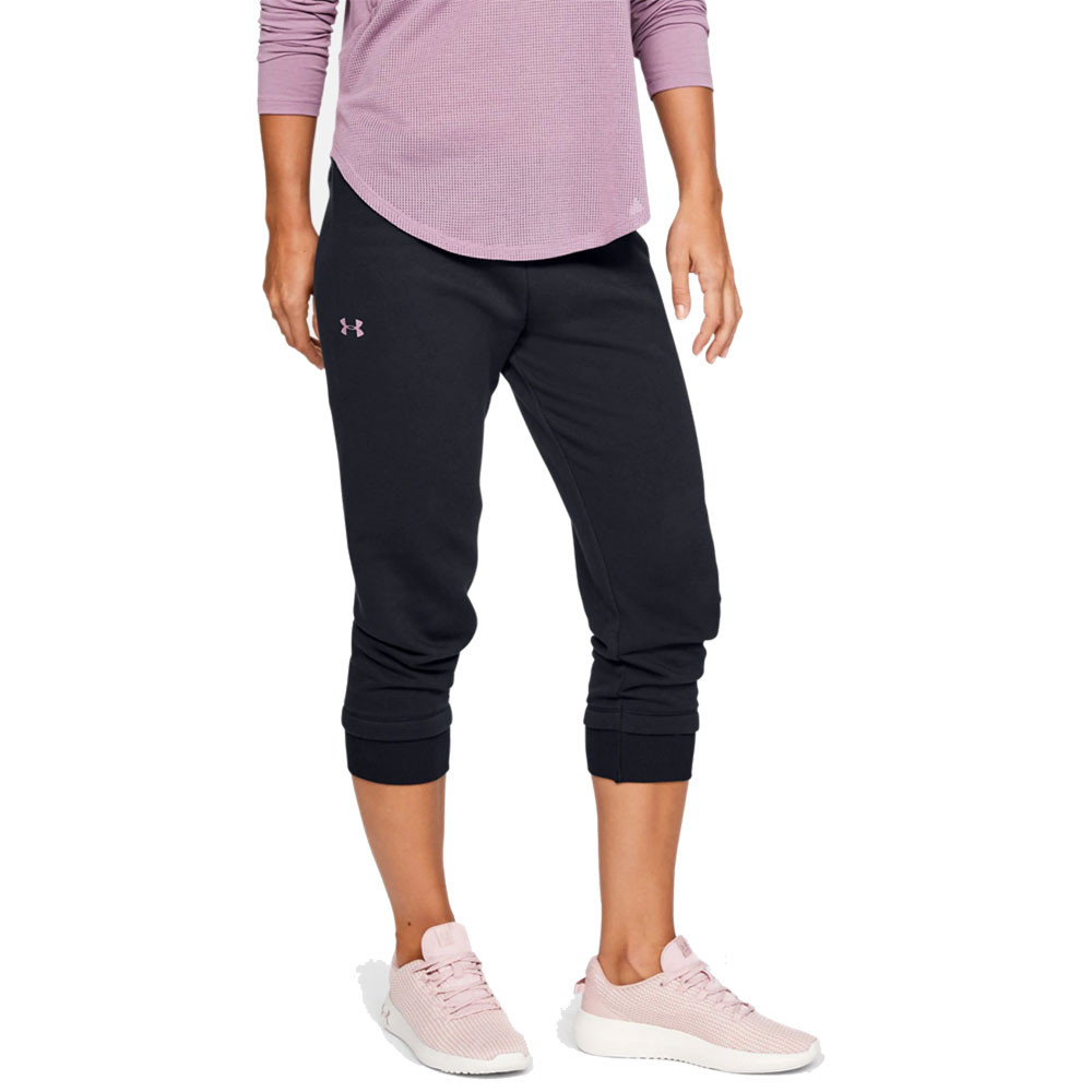 Purple Small New Under Armour Women/'s UA Slim Leg Fleece Crop Joggers