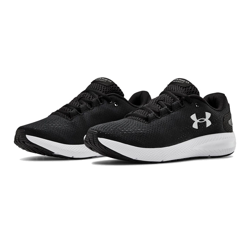 Black Under Armour Womens Charged Pursuit 2 Running Shoes Trainers Sneakers