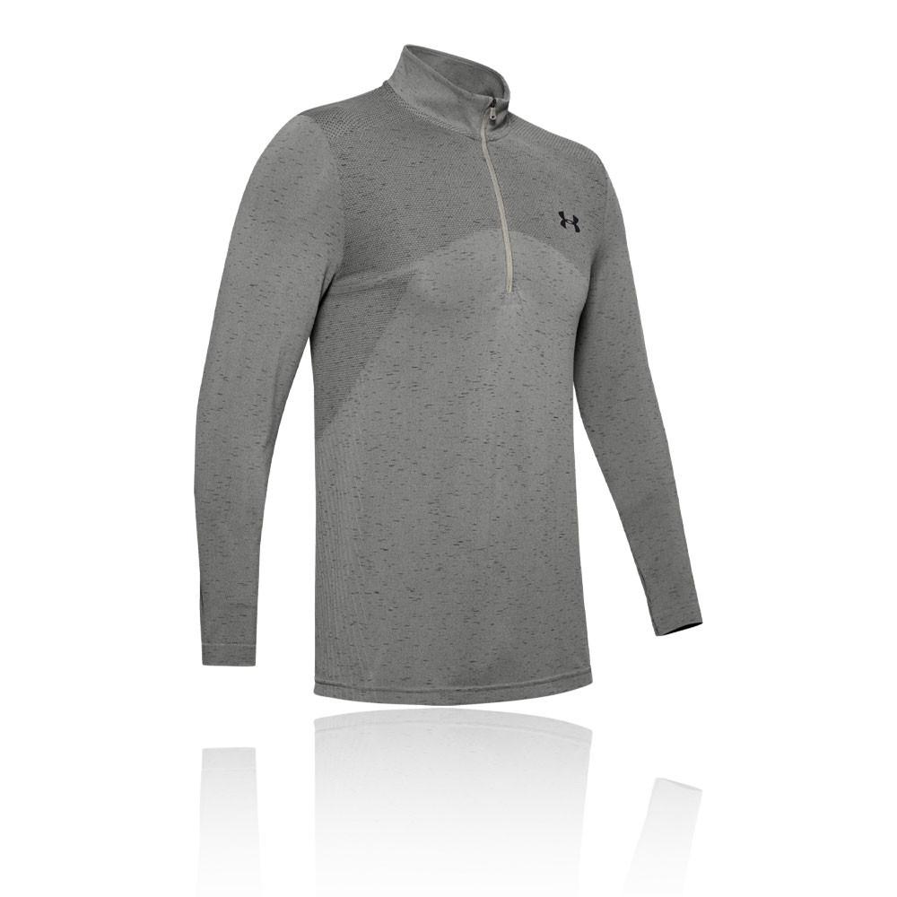 Under Armour Mens Vanish Seamless 1//2 Zip Top Grey Sports Gym Half Breathable