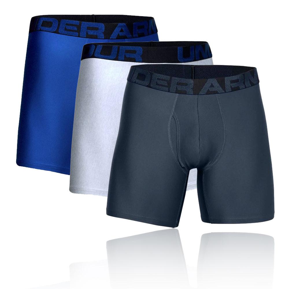 Under Armour Mens Tech 15cm Boxerjock Navy Blue Sports Gym Running Breathable