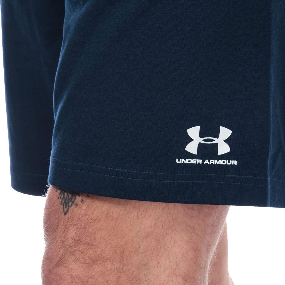 Under-Armour-Homme-Sportstyle-Coton-Short-Pantalon-Bas-Bleu-Sports miniature 9