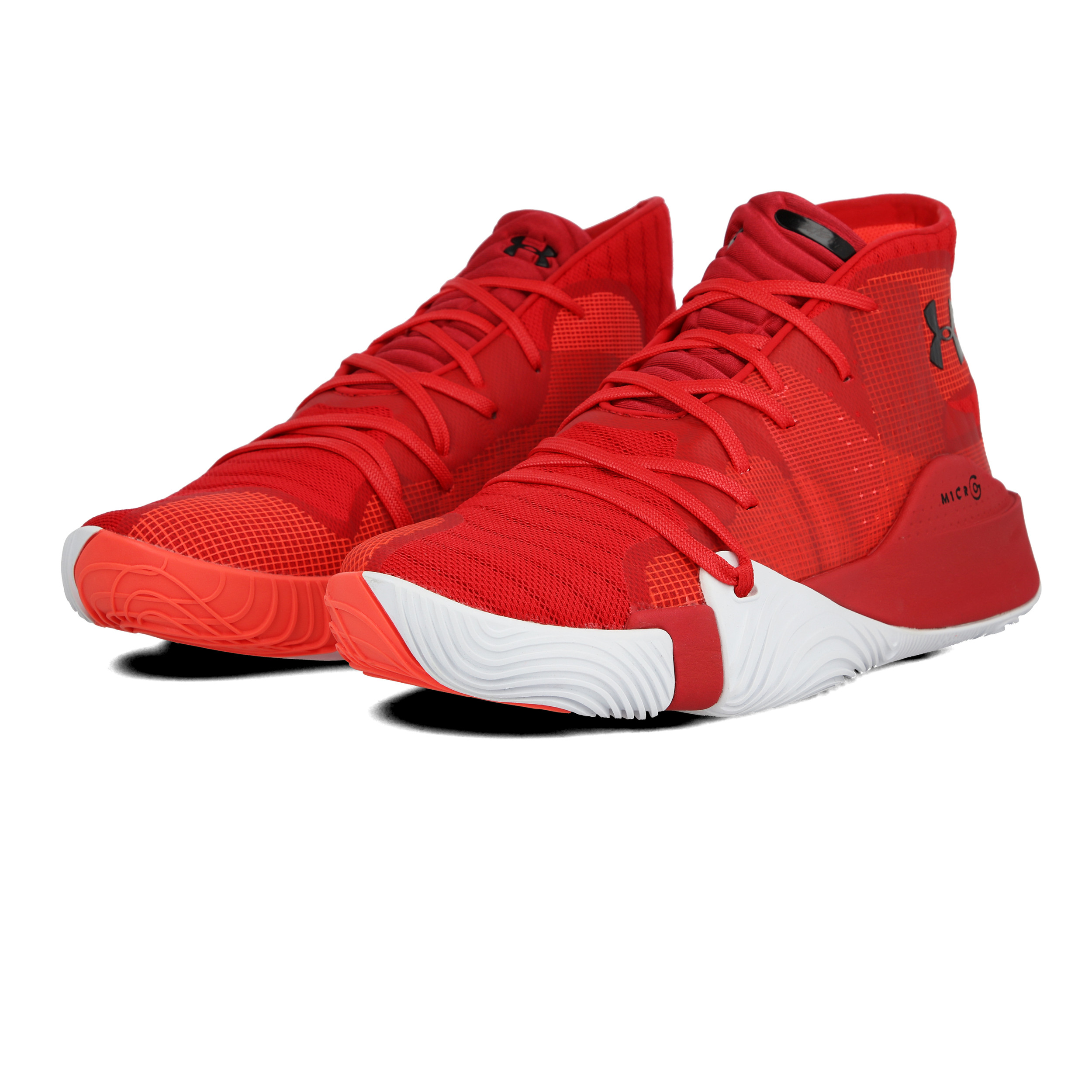 Under Armour Mens Spawn Mid Basketball Shoes Red Sports Brea