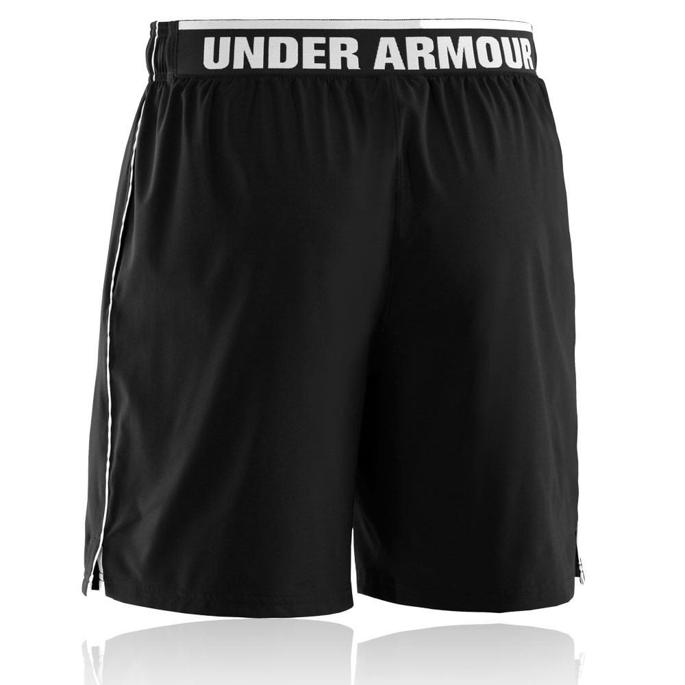 under armour mens heatgear mirage 8 inch black running bottoms pants shorts ebay. Black Bedroom Furniture Sets. Home Design Ideas