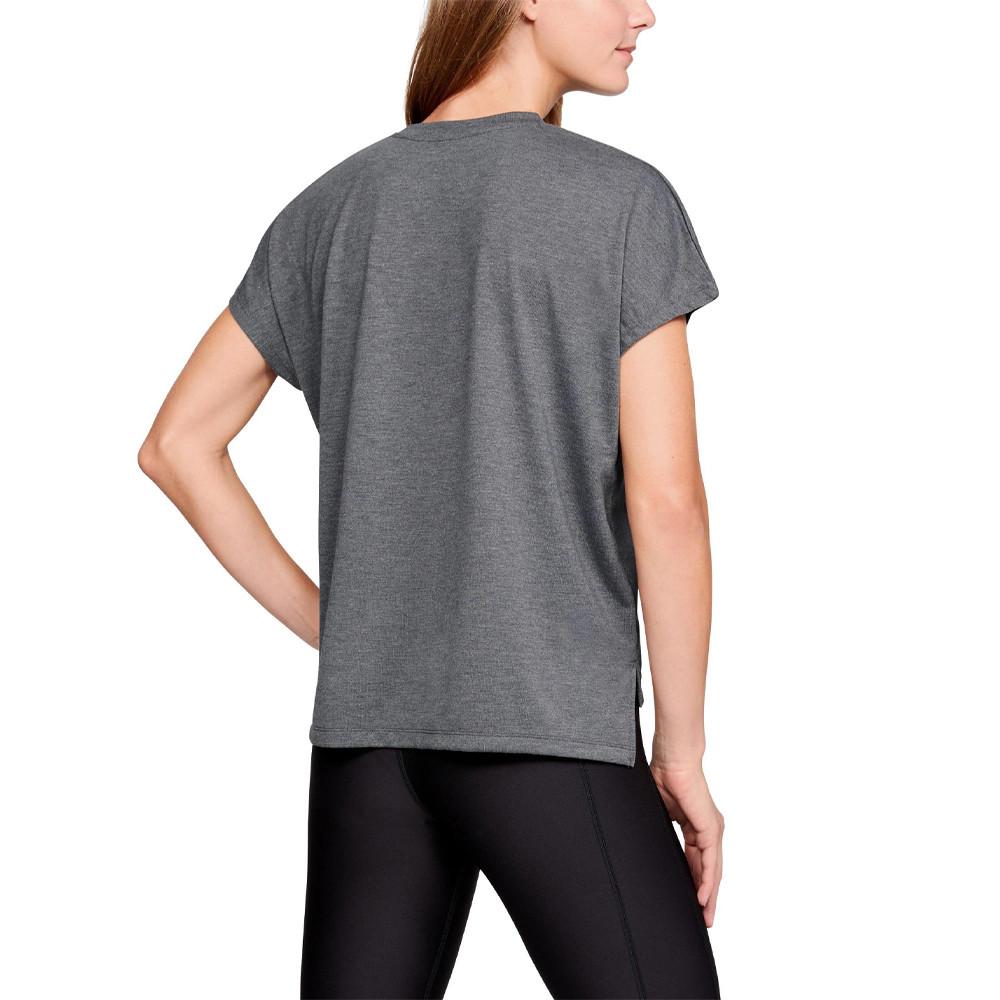 Under Armour femme Essentials T Shirt Tee Top Gris Sport Gym Respirant