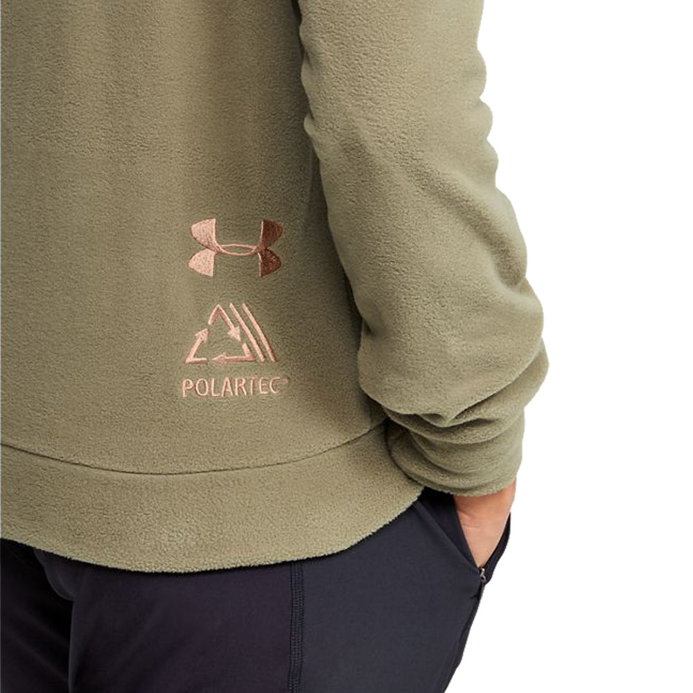 Under Armour Womens Trek Polar Hoodie Green Sports Gym Hooded Warm Breathable