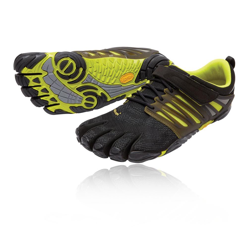 693462d05a0877 Vibram FiveFingers V-Train Mens Green Black Training Running Shoes Trainers