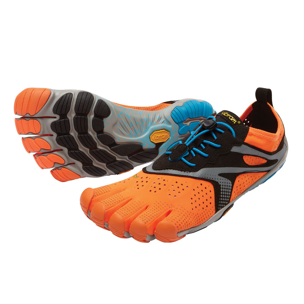 vibram fivefingers v run herren laufschuhe sport schuhe turnschuhe orange ebay. Black Bedroom Furniture Sets. Home Design Ideas