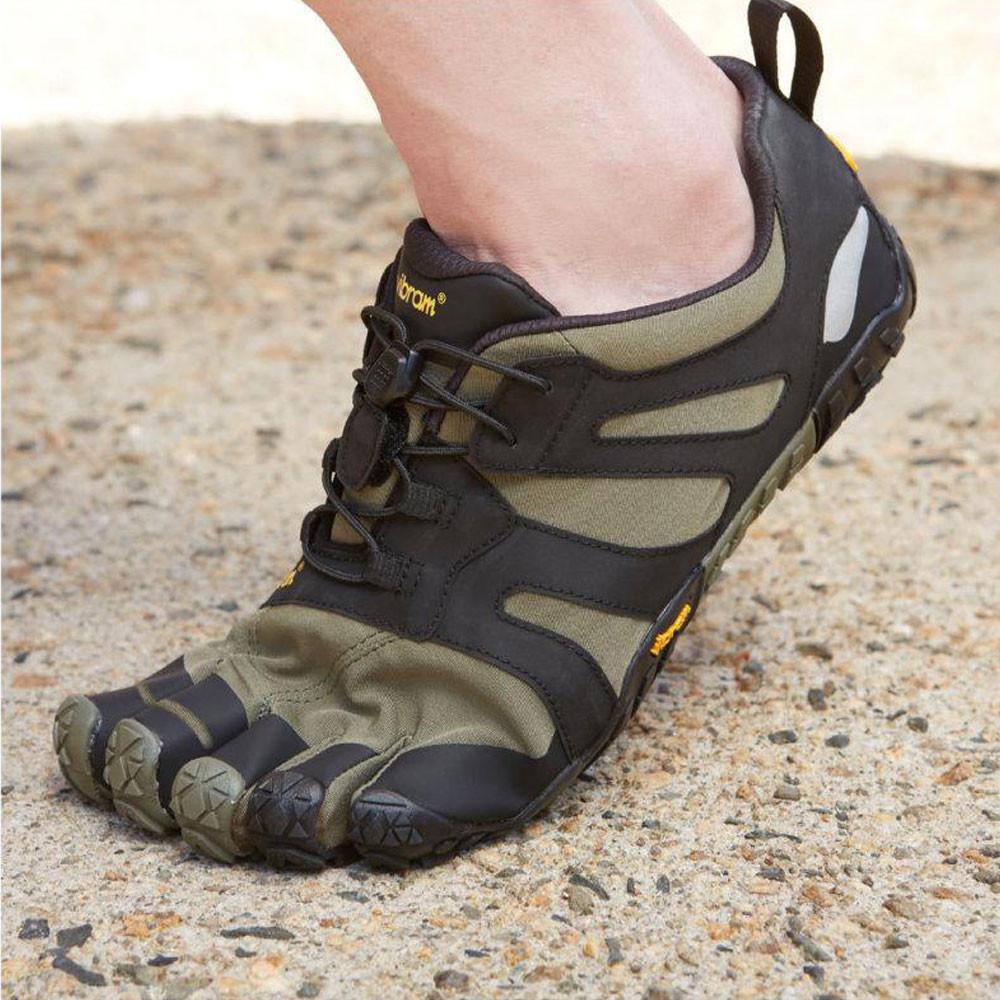 Vibram FiveFingers V-Trail 2.0 Mens Trail Running Shoes Green Minimalist Offroad