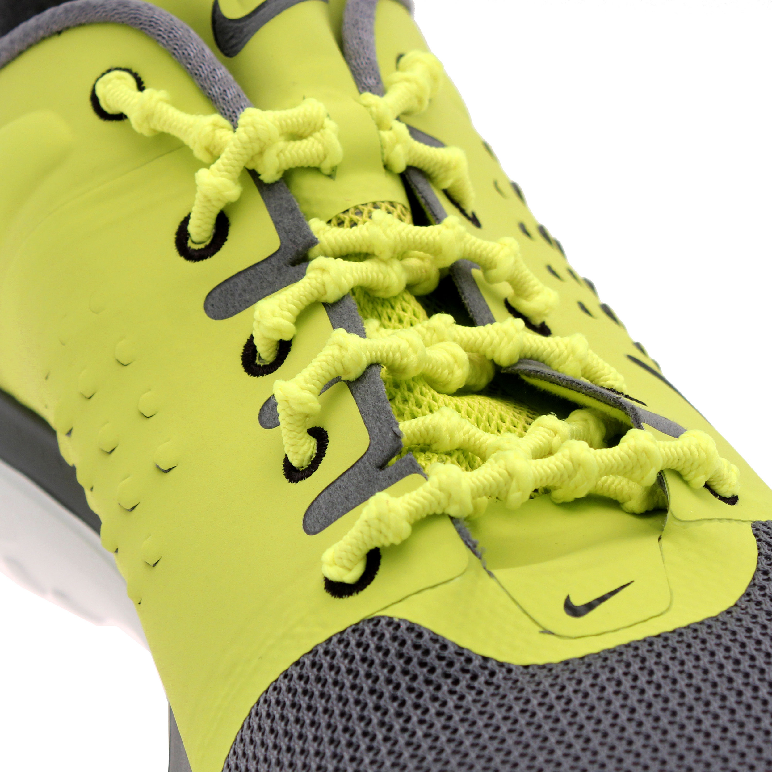 Xtenex Auto Locking Laces Mens Womens Shoe Yellow Patented Triathlon Elastic